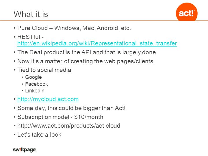 What it is Pure Cloud – Windows, Mac, Android, etc.