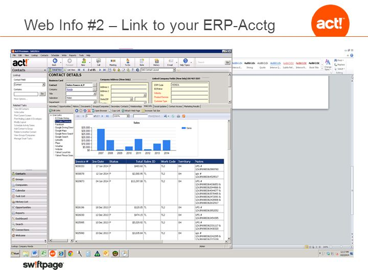 Web Info #2 – Link to your ERP-Acctg