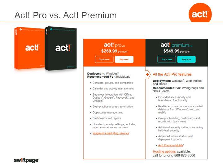 Act! Pro vs. Act! Premium
