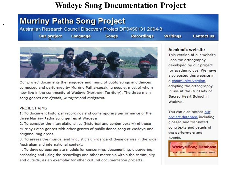Wadeye Song Documentation Project.