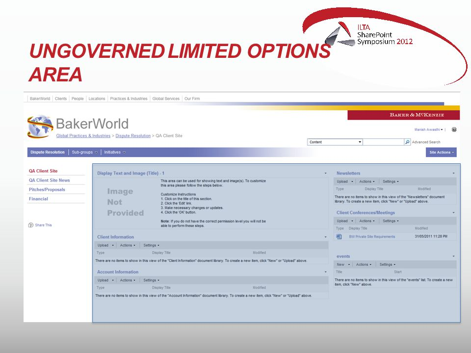 UNGOVERNED LIMITED OPTIONS AREA