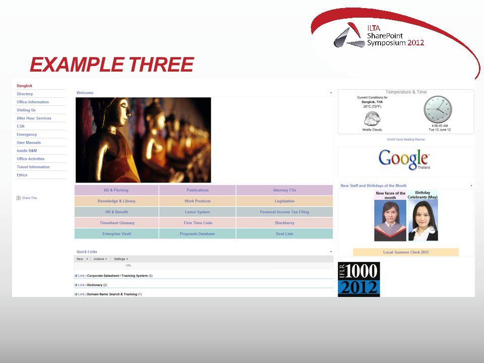EXAMPLE THREE