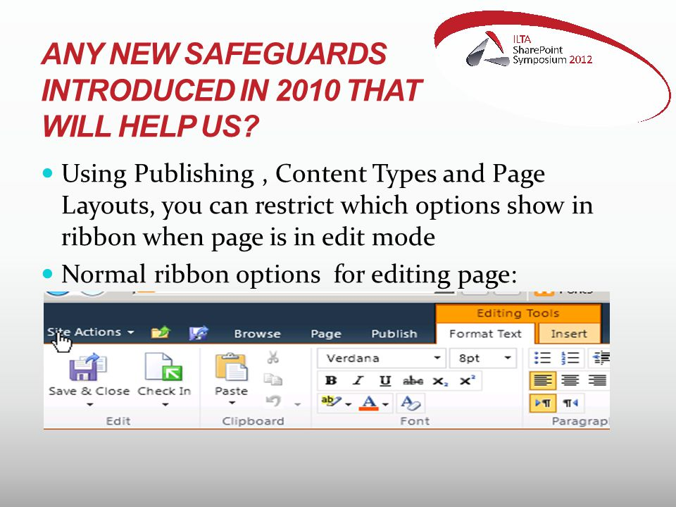 ANY NEW SAFEGUARDS INTRODUCED IN 2010 THAT WILL HELP US.