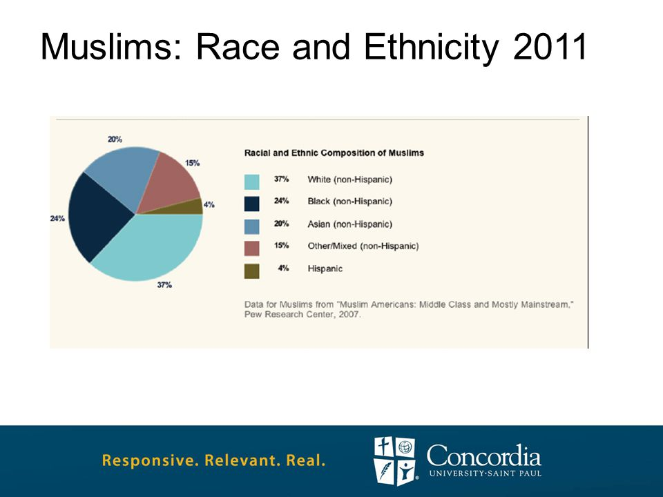 Muslims: Race and Ethnicity 2011