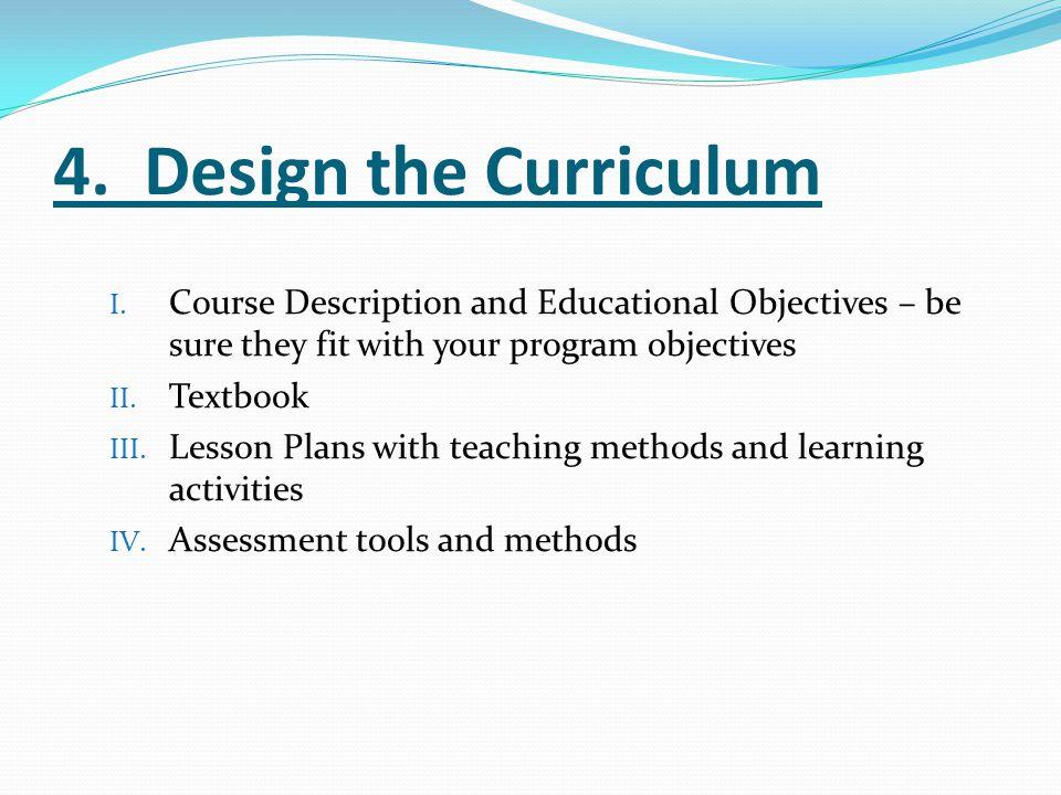 I.Educational Objectives 1.