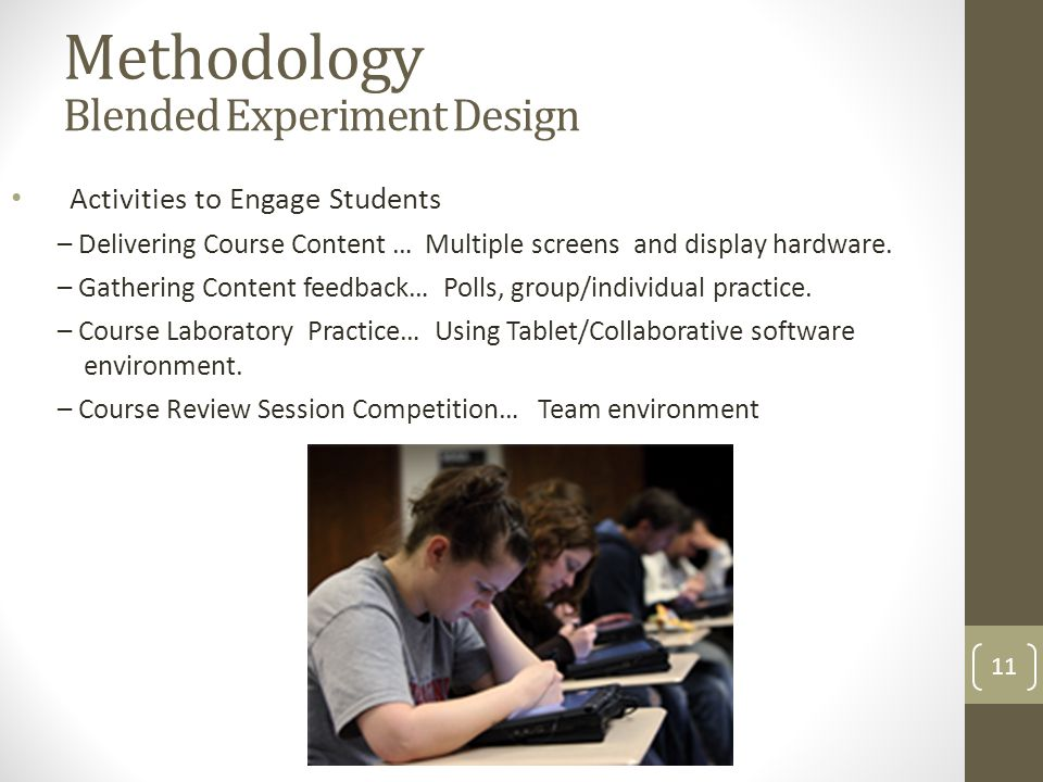 Activities to Engage Students – Delivering Course Content … Multiple screens and display hardware.