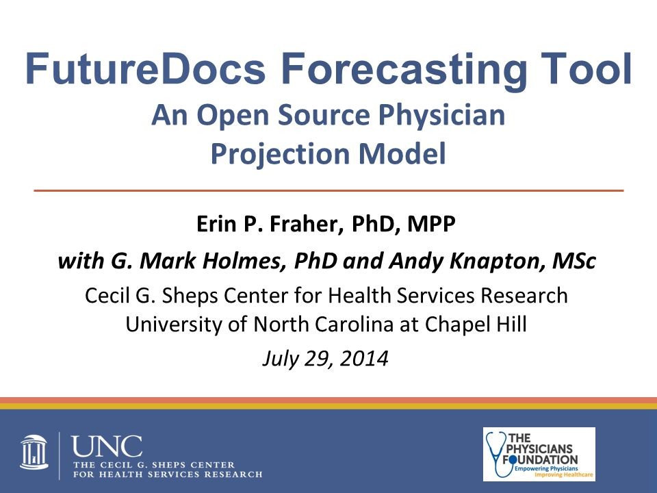 FutureDocs Forecasting Tool An Open Source Physician Projection Model Erin P.