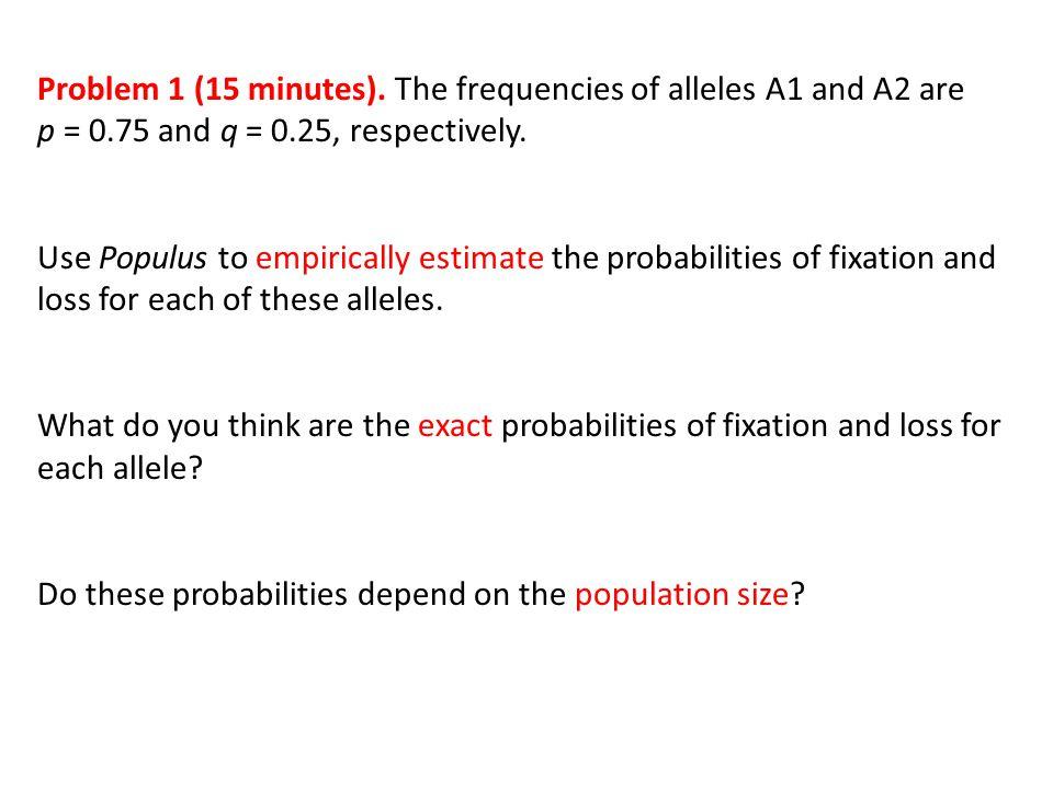 Problem 1 (15 minutes).