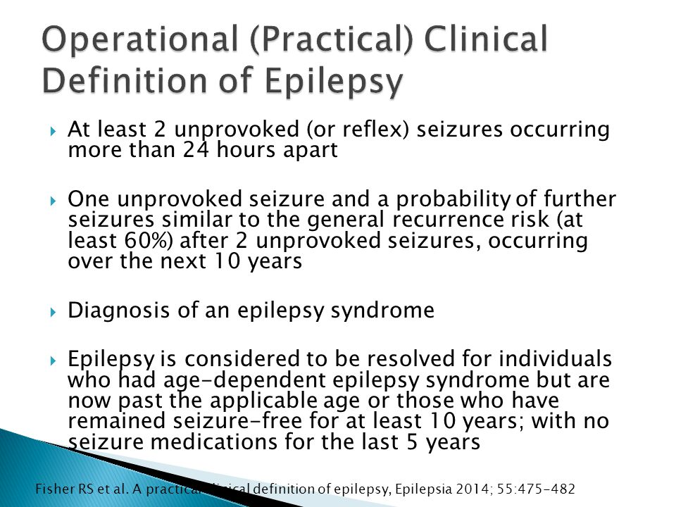  232 patients with EEG in first 24hrs then followed up for 1 week  15 patients had seizures in first 24hrs (6.5%)  10% of EEGs had epileptiform discharges  6% had periodic lateralized epileptiform discharges (PLEDs) ◦ 71.4% evolved to status epilepticus  195/232 had diffuse or focal slowing only ◦ No seizures  23/232 had epileptiform discharges ◦ 3/23 had seizures  14/232 had PLEDs ◦ 10 were in status epilepticus (mostly convulsive) ◦ 2 had focal seizures ◦ 3/14 died compared to 30/218 without PLEDs Mecorelli O et al Cerebrovasc Dis 2011; 31: 191-8