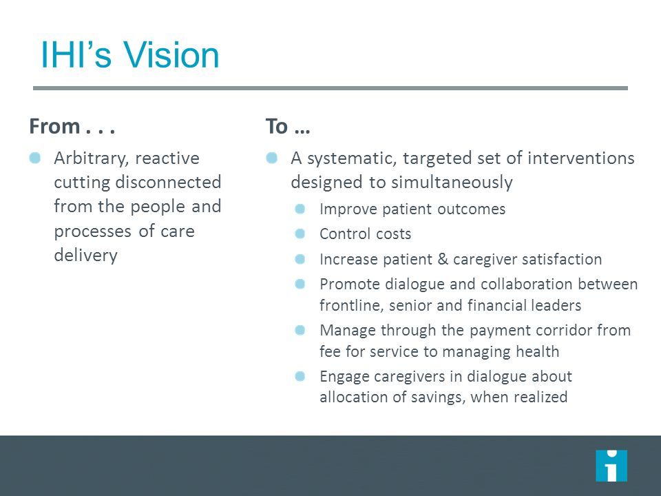 IHI's Vision From...