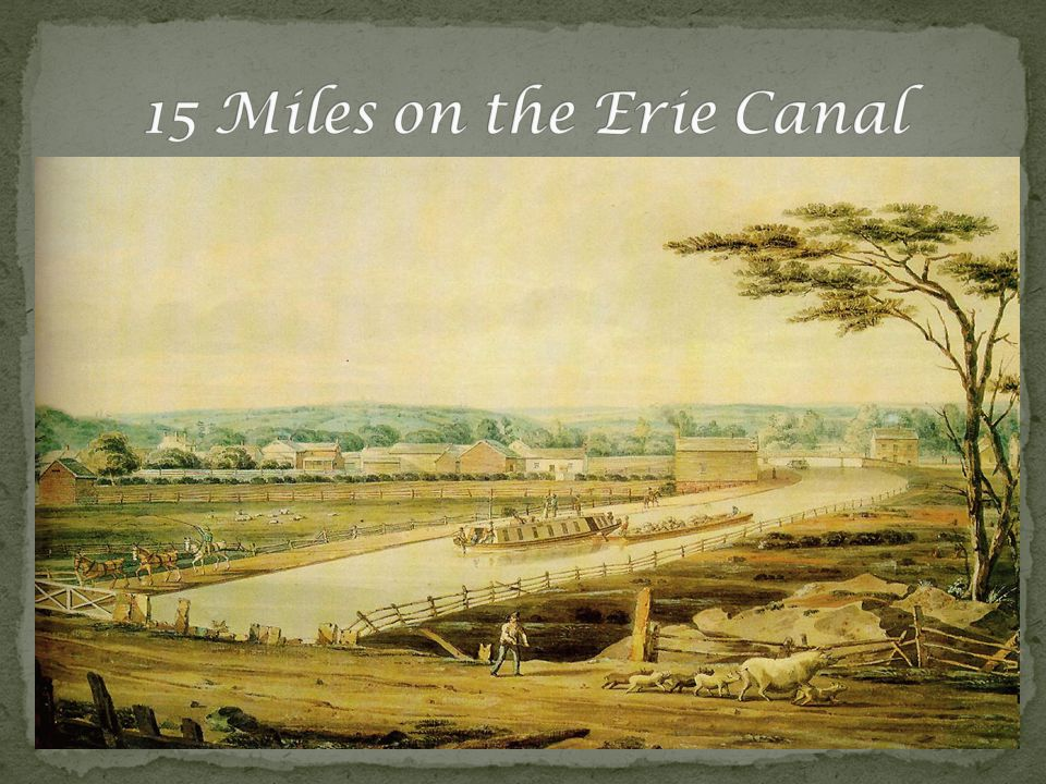 The Erie Canal is different from other water ways because it has still water.