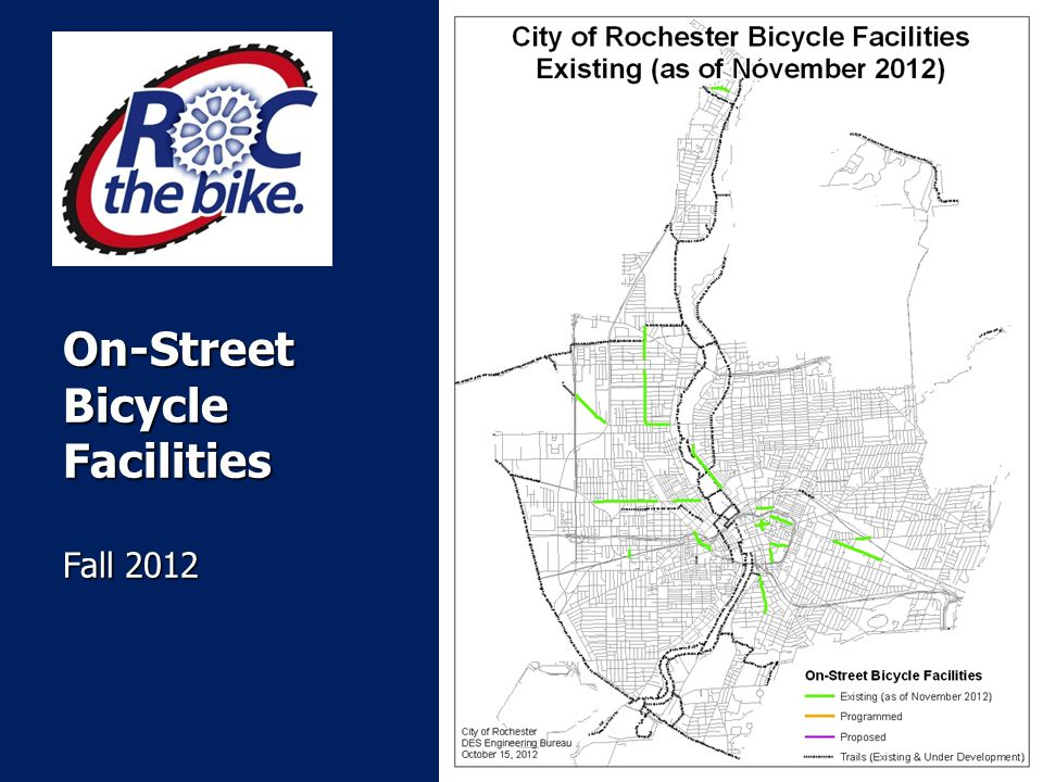 On-Street Bicycle Facilities Fall 2012