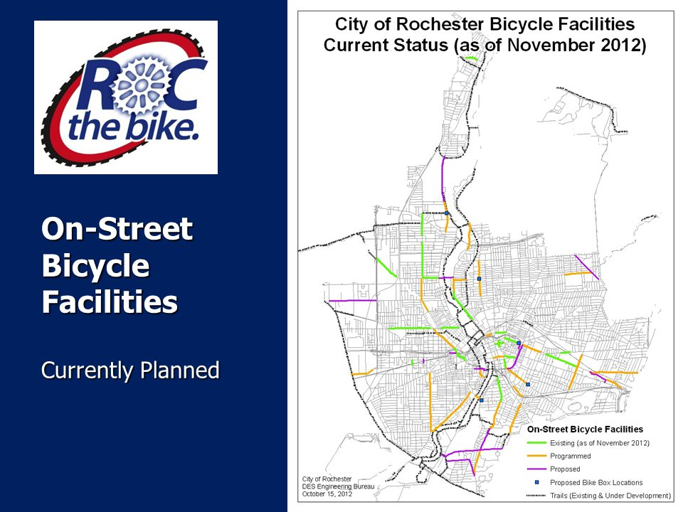 On-Street Bicycle Facilities Currently Planned