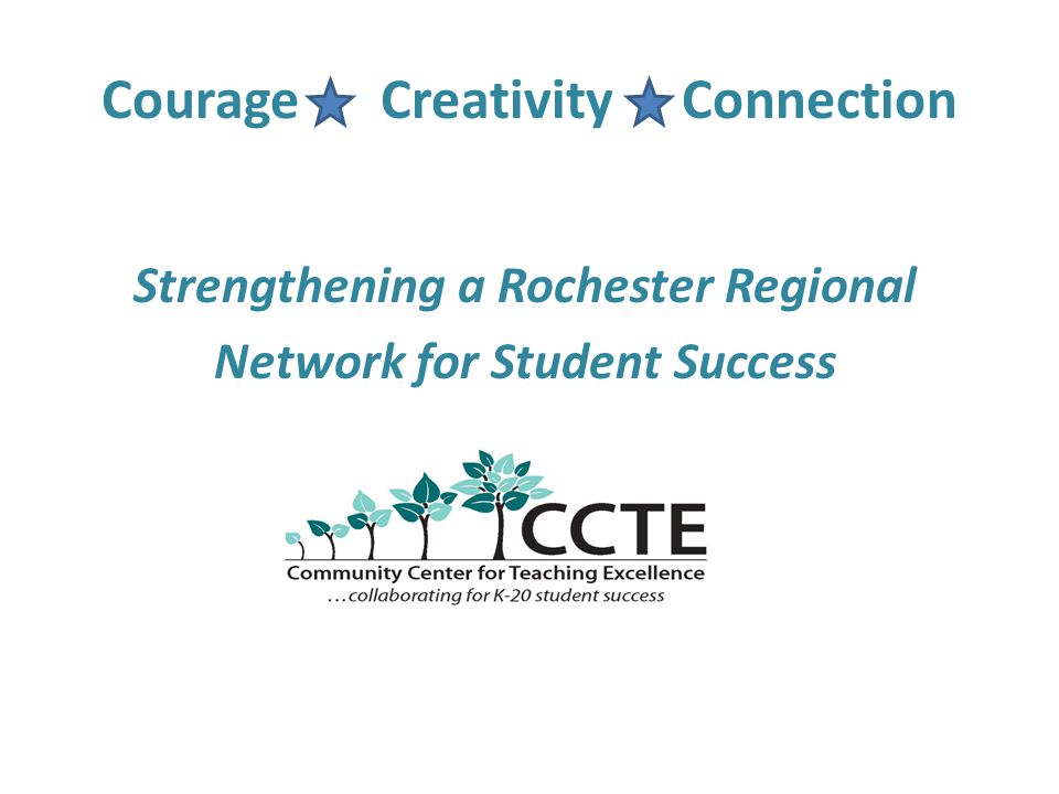 Courage Creativity Connection Strengthening a Rochester Regional Network for Student Success