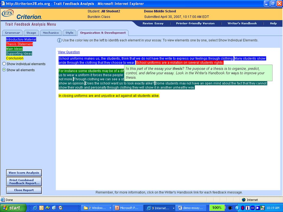 Confidential and Proprietary. Copyright © 2007 by Educational Testing Service. 11