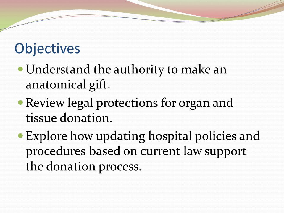 Scenarios If a family objects to recovery of organs and/or tissues from a person who is listed in the donor registry, how will providers, OPOs, and the hospital respond.