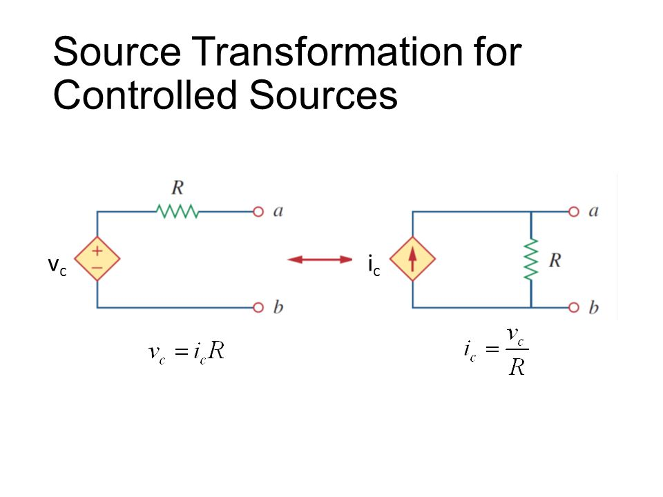 Source Transformation for Controlled Sources vcvc icic
