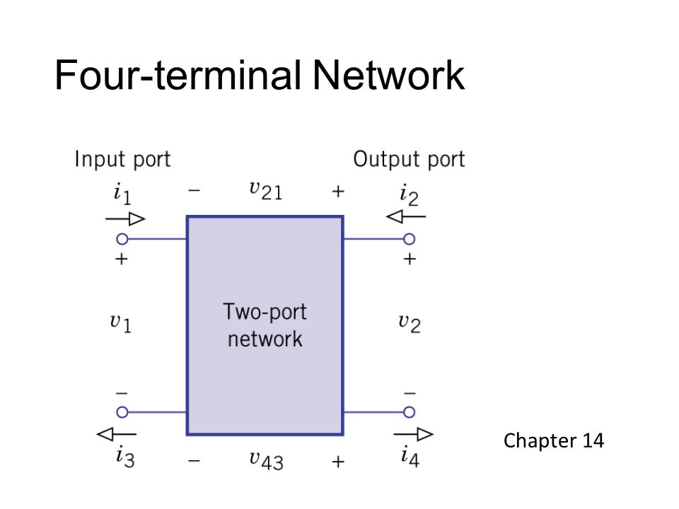 Four-terminal Network Chapter 14