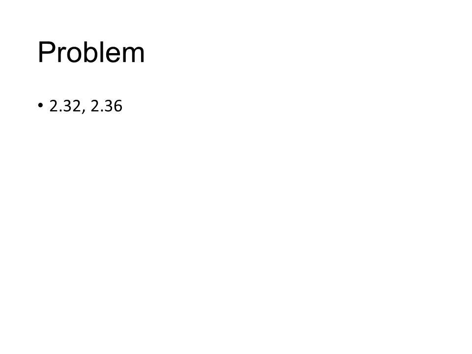 Problem 2.32, 2.36