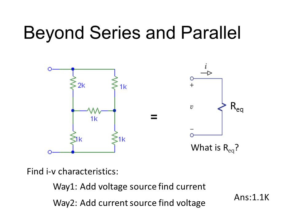 Beyond Series and Parallel = What is R eq .