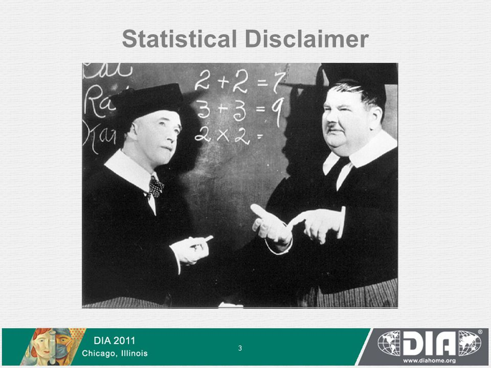 Statistical Disclaimer 3