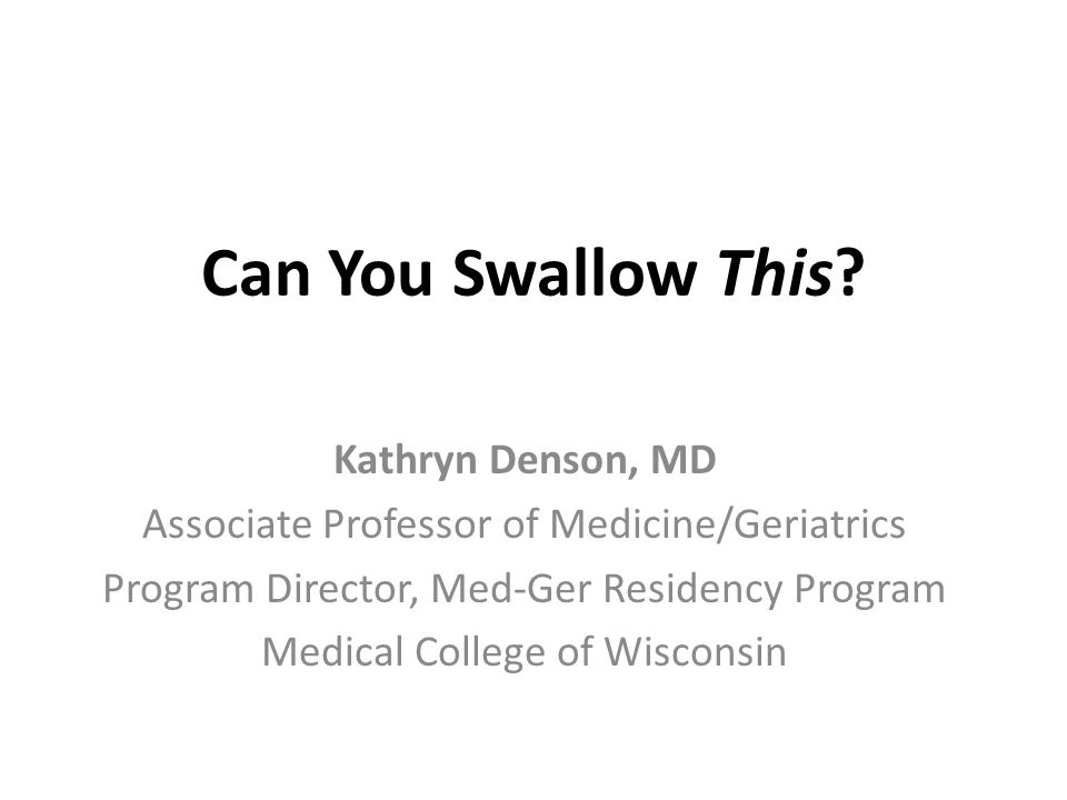 Can You Swallow This.