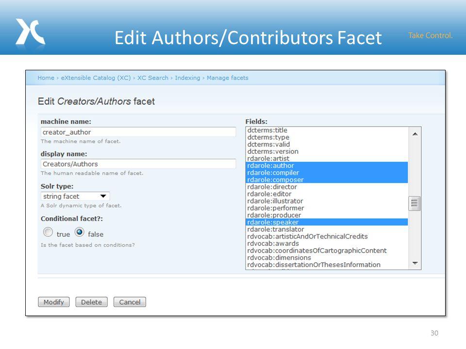 Edit Authors/Contributors Facet 30