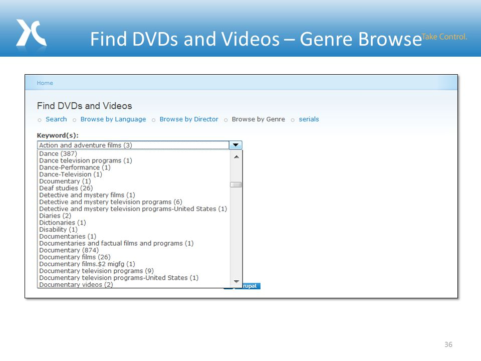 Find DVDs and Videos – Genre Browse 36