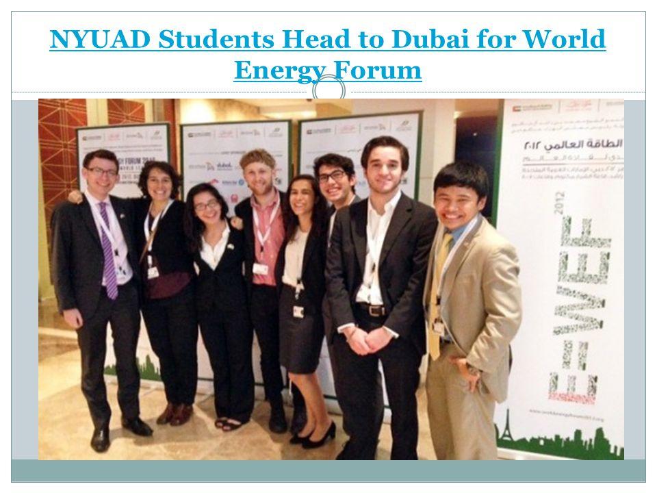 NYUAD Students Head to Dubai for World Energy Forum