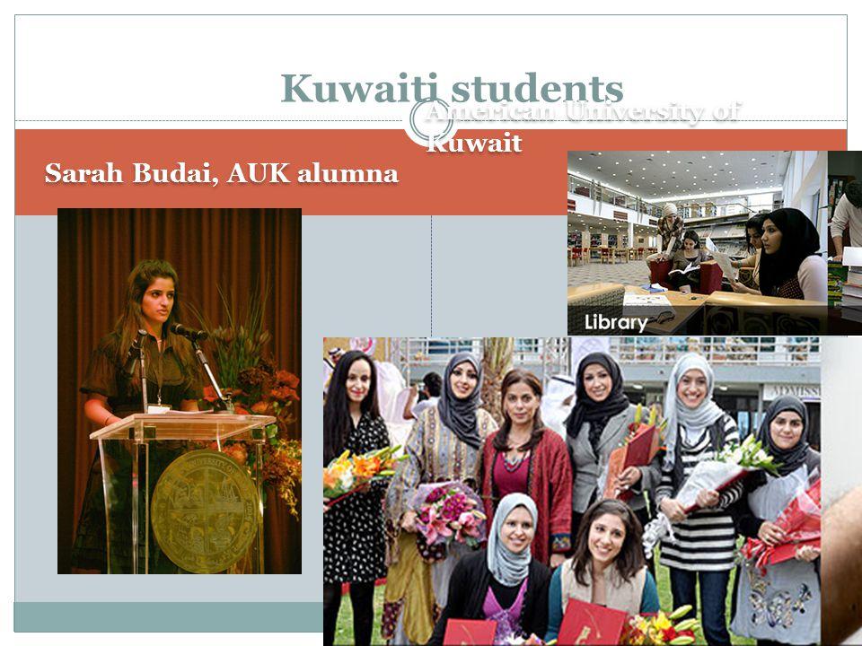 Kuwaiti students American University of Kuwait Sarah Budai, AUK alumna