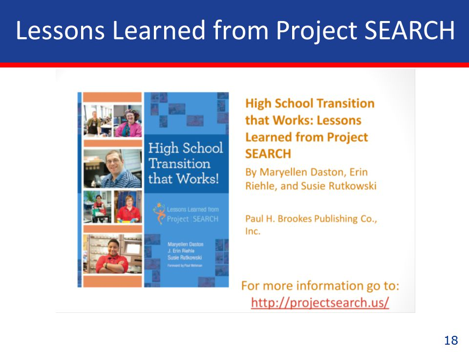 18 Lessons Learned from Project SEARCH