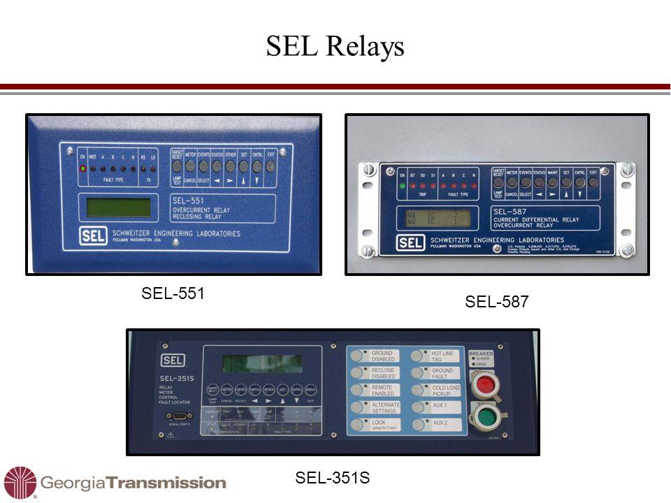 SEL Relays SEL-551 SEL-351S SEL-587