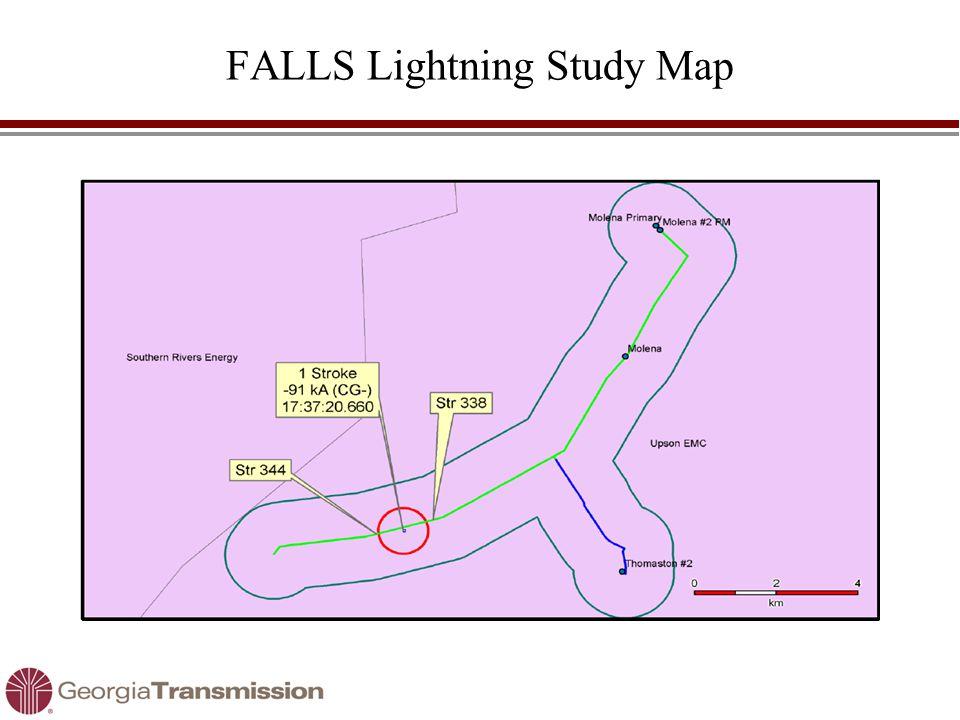 FALLS Lightning Study Map