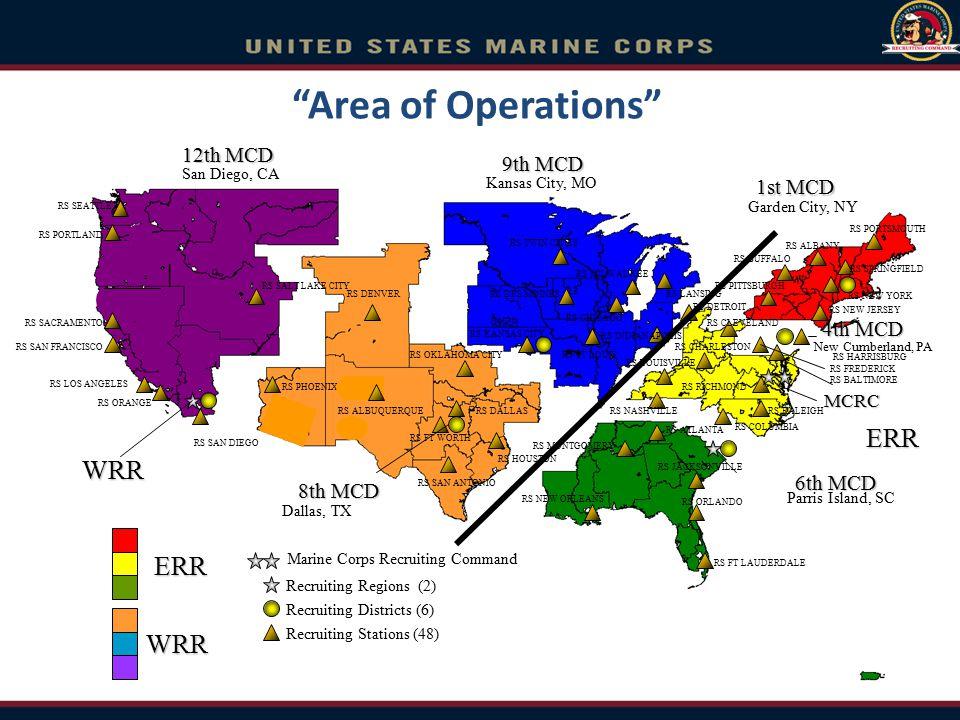 1st MCD 4th MCD 6th MCD 8th MCD Dallas, TX Garden City, NY Kansas City, MO New Cumberland, PA Parris Island, SC Marine Corps Recruiting Command Recrui