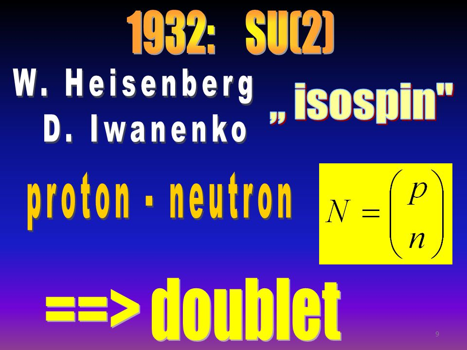nucleons: doublet of SU(2)