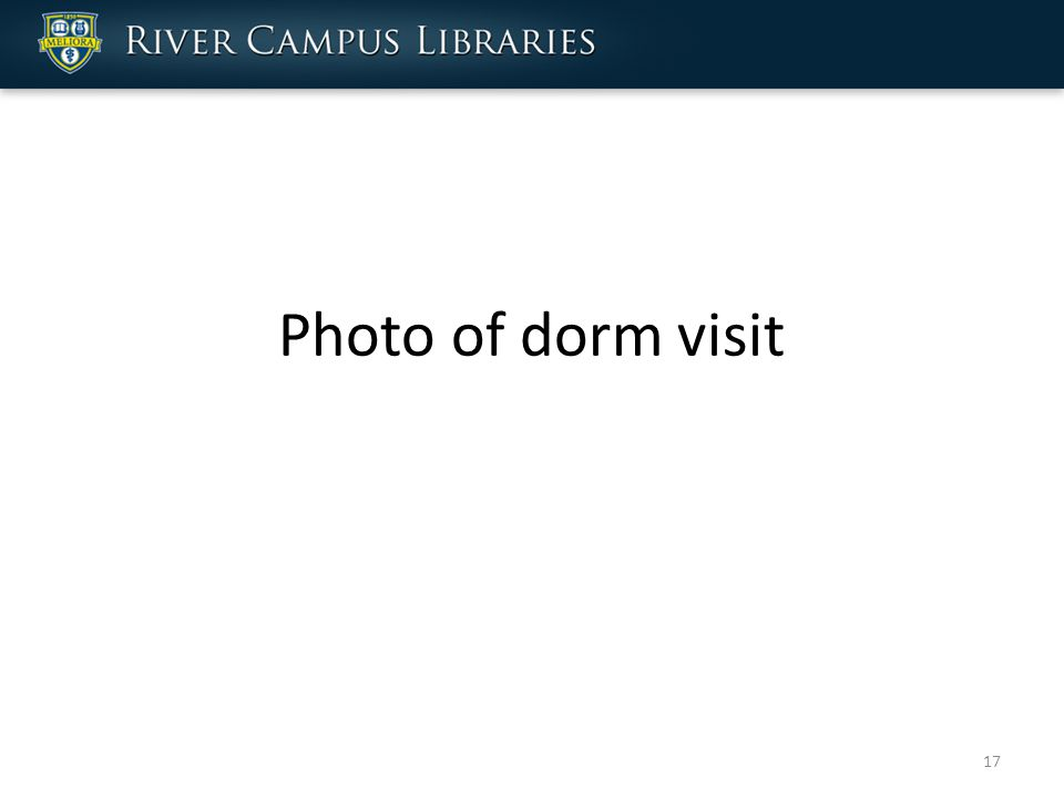 Photo of dorm visit 17