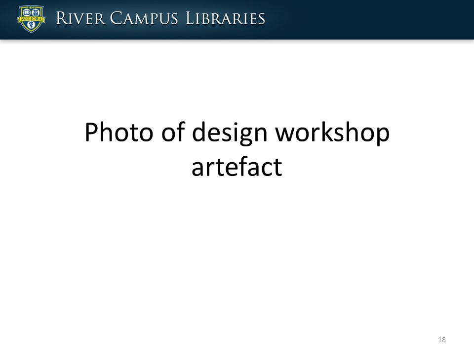 Photo of design workshop artefact 18