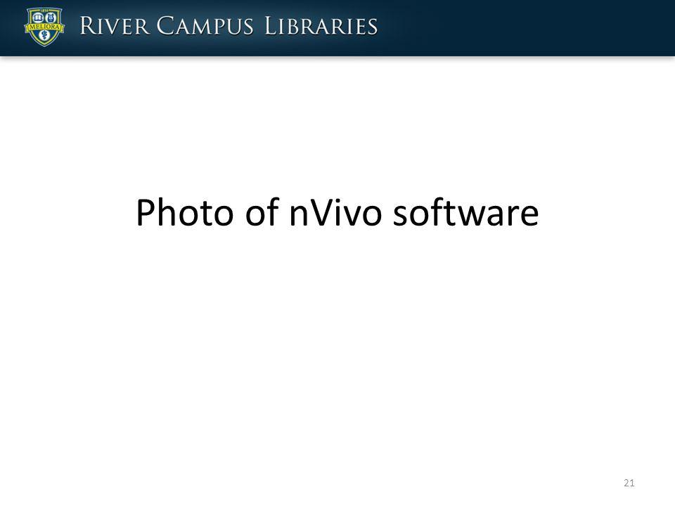 Photo of nVivo software 21