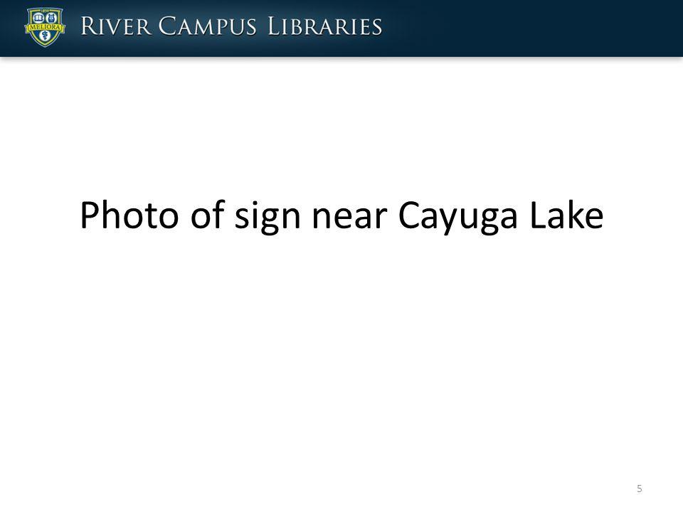 Photo of sign near Cayuga Lake 5