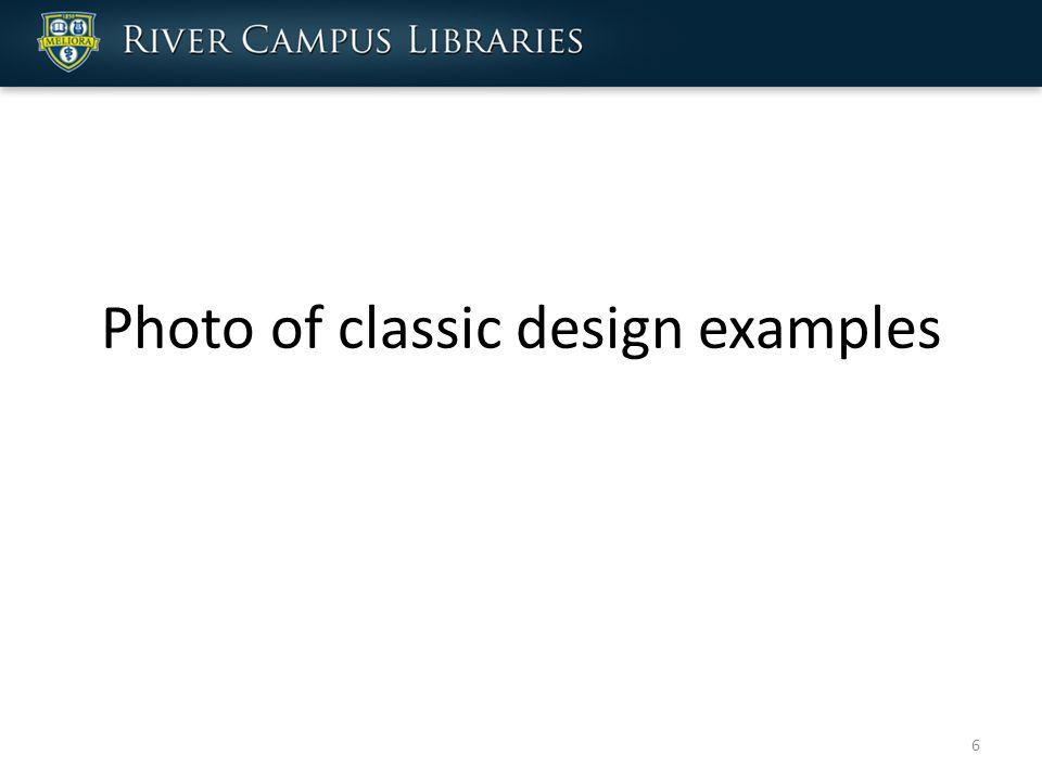 Photo of classic design examples 6