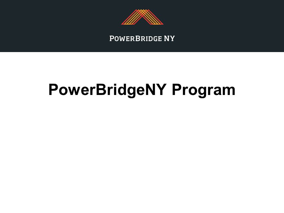 PowerBridgeNY Program