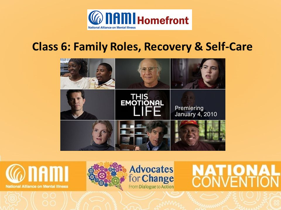 Title of Slide Class 6: Family Roles, Recovery & Self-Care