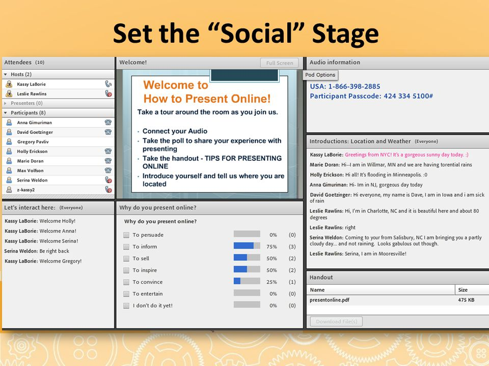 Set the Social Stage Text Box