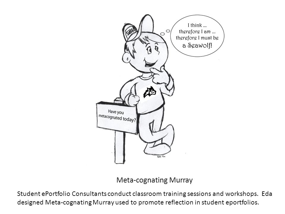 Meta-cognating Murray Student ePortfolio Consultants conduct classroom training sessions and workshops.
