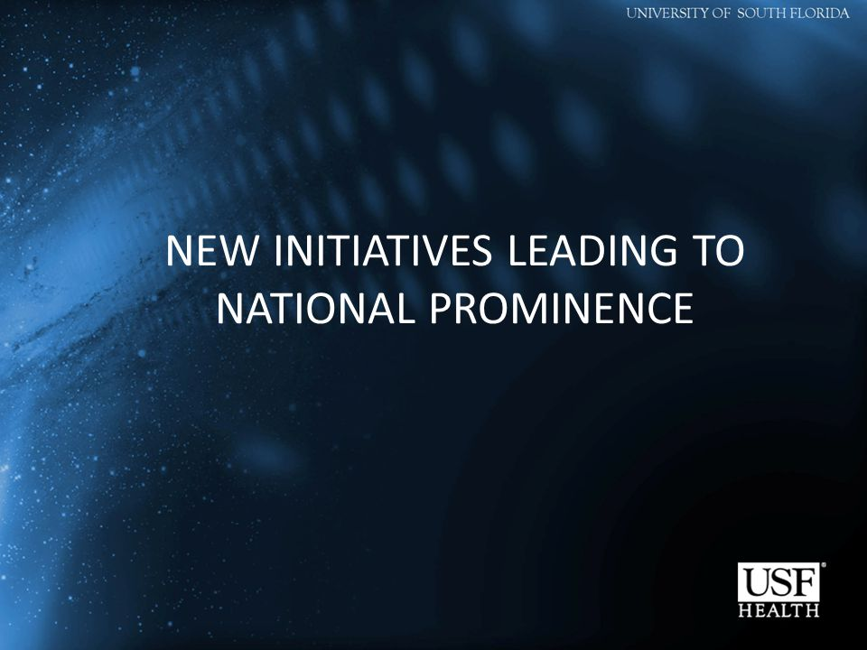 NEW INITIATIVES LEADING TO NATIONAL PROMINENCE
