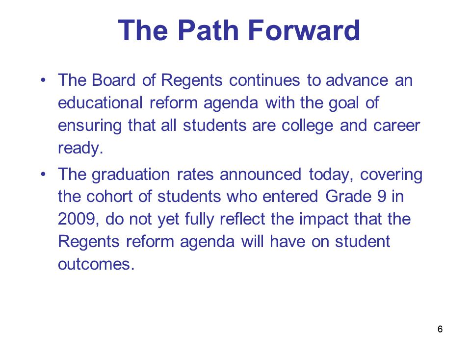 77 The Path Forward (cont'd) Critical aspects of the reform agenda that are expected to prepare students for college and careers include: Implementing Common Core standards, curriculum and instruction aligned to the standards, and statewide assessments that measure student progress on the standards; Supporting instructional data systems that display student achievement and help teachers and principals improve their practice; Recruiting, developing, retaining, and rewarding effective teachers and principals; Turning around the lowest-achieving schools.