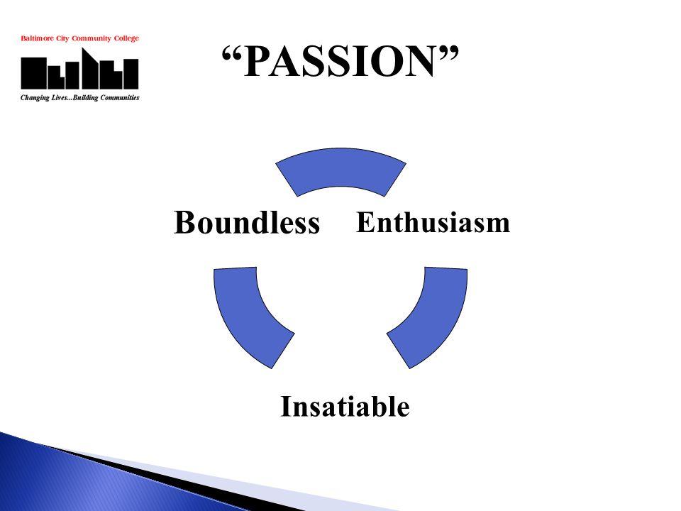 Enthusiasm Insatiable Boundless PASSION