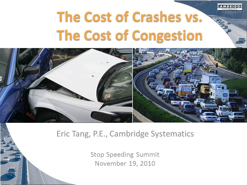 Cost of Congestion in the New York Metropolitan Area $8.0 Billion (2007)