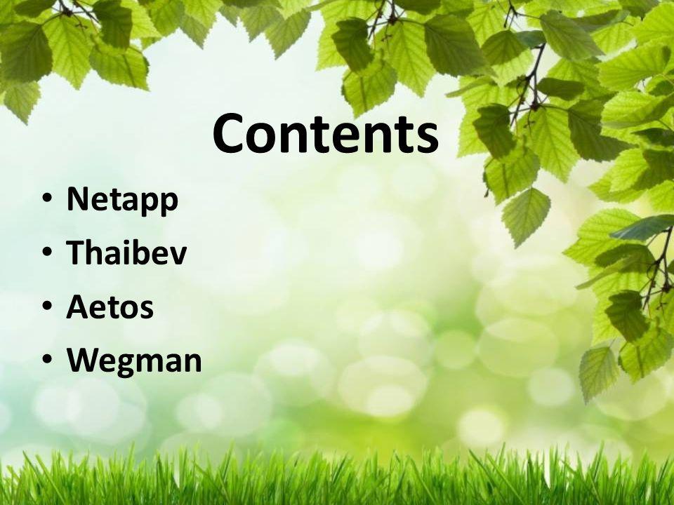 Contents Netapp Thaibev Aetos Wegman