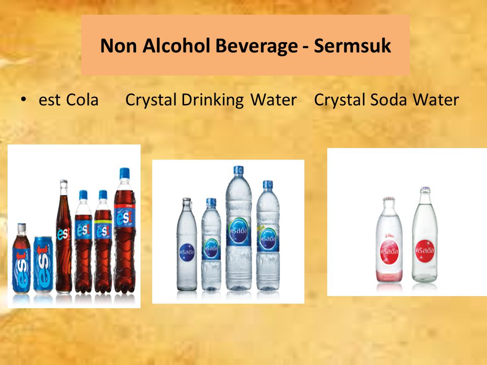 Non Alcohol Beverage - Sermsuk est Cola Crystal Drinking Water Crystal Soda Water
